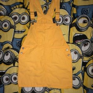 323fe2f9de2 SHEIN Dresses - Denim Jumper Dress - YELLOW
